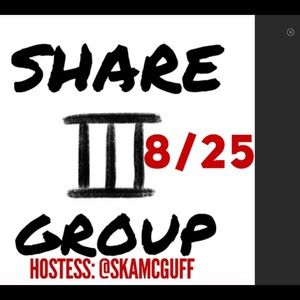 Share 3 group hosted by @skamcguff